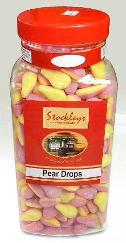 PP35 STOCKLEYS LARGE PEAR DROPS 2.73KG